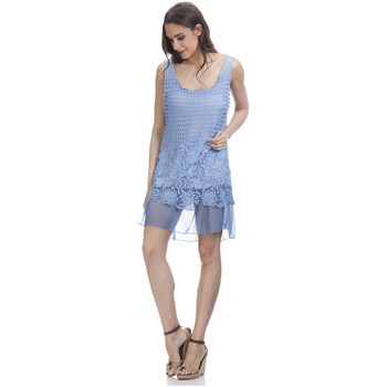 Clothing Women Dresses Tantra Lace dress CAMILLE Blue Woman Autumn/Winter Collection Blue