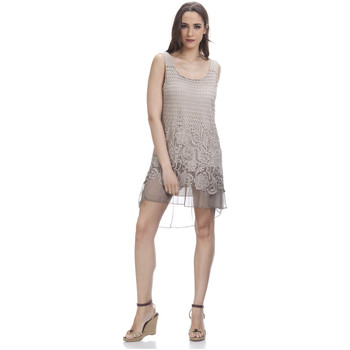 Clothing Women Dresses Tantra Lace dress CAMILLE Beige Woman Autumn/Winter Collection Beige