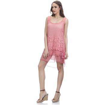 Clothing Women Dresses Tantra Lace dress CAMILLE Coral Woman Autumn/Winter Collection Coral