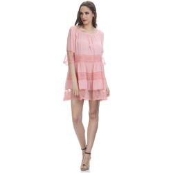 Clothing Women Short Dresses Tantra Dress ANNA Salmon-pink F Salmon-pink