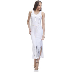 Clothing Women Long Dresses Tantra Printed dress NINA White Woman Spring/Summer Collection White