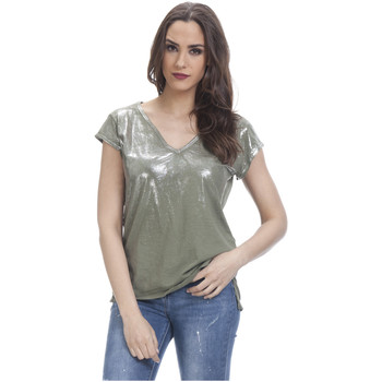 Clothing Women Tops / Blouses Tantra Short sleeves top OPHELIE Green Woman Spring/Summer Collection Green