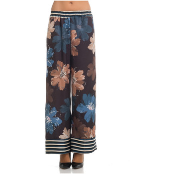 Clothing Women Wide leg / Harem trousers Tantra Printed trousers STELLA Blue / Pink Woman Spring/Summer Collect Blue