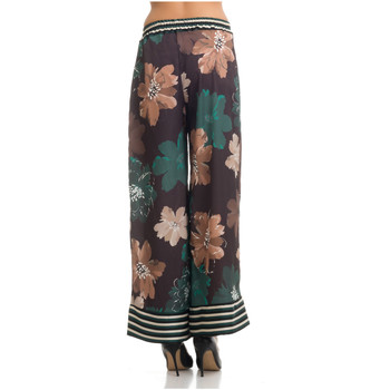 Clothing Women Wide leg / Harem trousers Tantra Trousers STELLA Green / Pink F Green