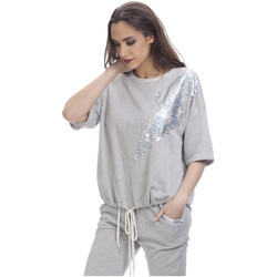 Clothing Women Tops / Blouses Tantra Short sleeves top AGATHE Grey Woman Spring/Summer Collection Grey