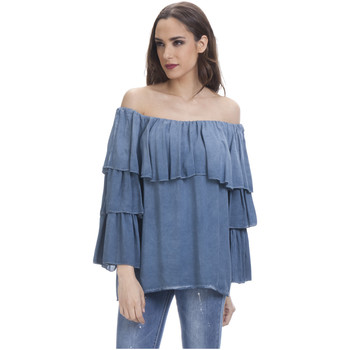 Clothing Women Tops / Blouses Tantra Blouse LIANE Blue F Blue