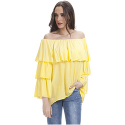 Clothing Women Tops / Blouses Tantra 3/4 Sleeve Blouse LIANE Yellow Woman Autumn/Winter Collection Yellow