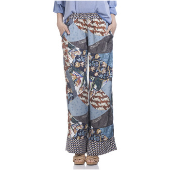Clothing Women Wide leg / Harem trousers Tantra Printed trousers ZAZI Blue / Multicolor Woman Spring/Summer Col Blue