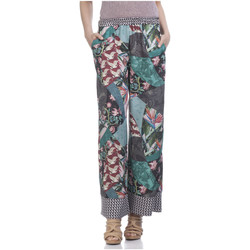 Clothing Women Wide leg / Harem trousers Tantra Trousers ZAZI Green / Multicolor F Green