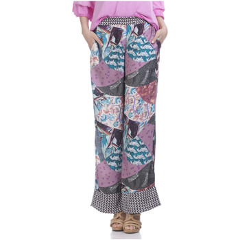 Clothing Women Wide leg / Harem trousers Tantra Printed trousers ZAZI Pink / Multicolor Woman Autumn/Winter Col Pink