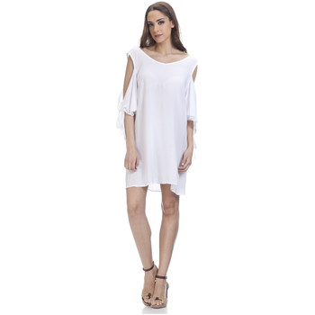 Clothing Women Short Dresses Tantra Round neck dress OCEANE White Woman Spring/Summer Collection White
