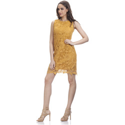 Clothing Women Dresses Tantra Lace dress JULIE Mustard Woman Spring/Summer Collection Mustard