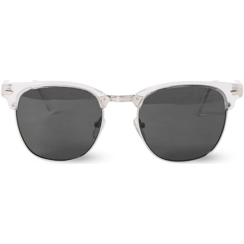 Watches Men Sunglasses The Idle Man Clubmaster Sunglasses Clear White