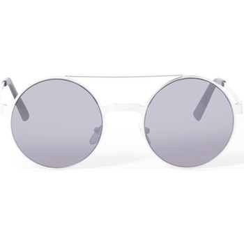 Watches Men Sunglasses The Idle Man Brow Bar Round Lens Sunglasses Silver Silver