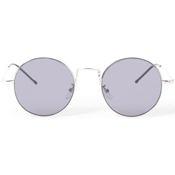 Watches Men Sunglasses The Idle Man Vintage Round Lens Sunglasses Silver Silver