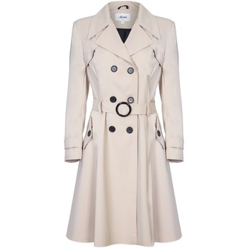 Clothing Women coats De La Creme Spring Belted Trench Coat BEIGE