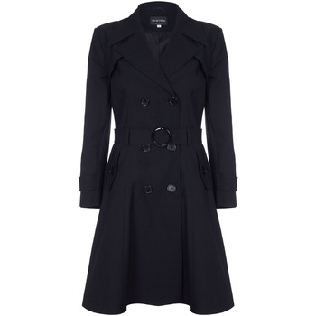 Clothing Women Coats De La Creme Spring Belted Trench Coat Black