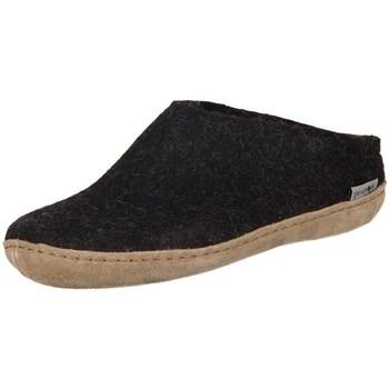Shoes Women Slippers Glerups DK Charcoal Lammwollfilz Black