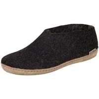 Shoes Women Slippers Glerups DK Shoe Charcoal Lammwollfilz Black