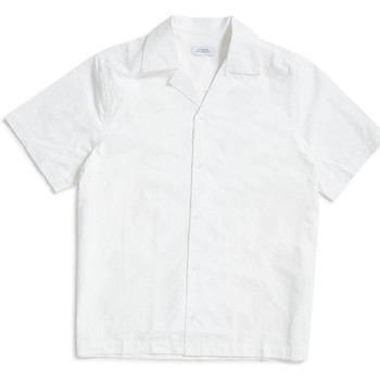 Clothing Men short-sleeved shirts Saturdays Nyc Canty Solid Shirt White White