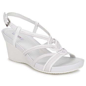 Shoes Women Sandals Geox ROXY PELLE White