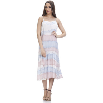 Clothing Women Dresses Tantra Printed dress HELOISE Light pink / Blue Woman Autumn/Winter Col Light pink