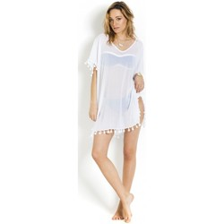 Clothing Tunics Seafolly Kaftan Amnesia in Cotton, , White - Spice Temple White