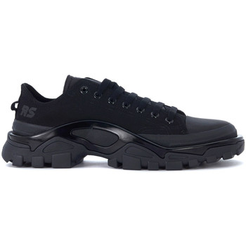 Shoes Men Low top trainers Adidas By Raf Simons Adidas x Raf Simons Detroit black canvas sneakers Black