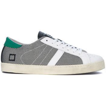 Shoes Men Low top trainers Date D.A.T.E. Hill Low Argegno white and black fabric and leather sne Black