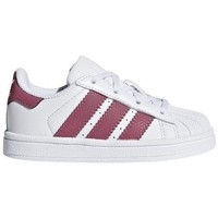 Shoes Children Low top trainers adidas Originals Superstar I White-Pink