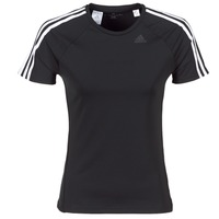 Clothing Women short-sleeved t-shirts adidas Originals D2M TEE 3S Black