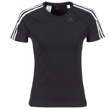 Clothing Women short-sleeved t-shirts adidas Performance D2M TEE 3S Black