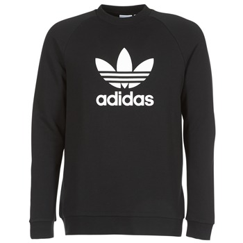 Clothing Men sweaters adidas Originals TREFOIL CREW Black