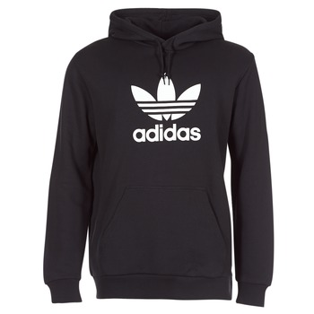 Clothing Men Sweaters adidas Originals TREFOIL HOODIE Black