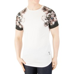 Clothing Men T-shirts & Polo shirts Religion Men's Wild Night Shoulder Print T-Shirt, White white