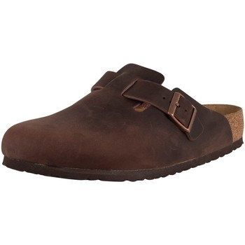 Shoes Men Clogs Birkenstock Boston Oiled Leather Slip On Sandals brown