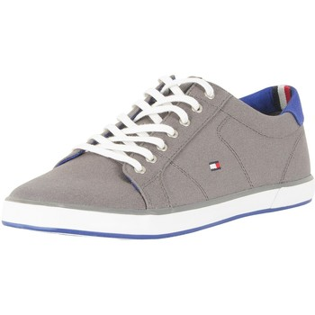 Shoes Men Fitness / Training Tommy Hilfiger Flag Canvas Trainers grey