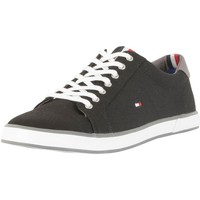 Shoes Men Low top trainers Tommy Hilfiger Flag Canvas Trainers black