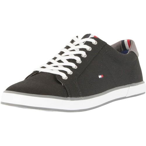 Shoes Men Low top trainers Tommy Hilfiger Flag Canvas Trainers black