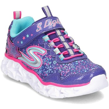 Shoes Children Low top trainers Skechers Galaxy Lights Pink-Black