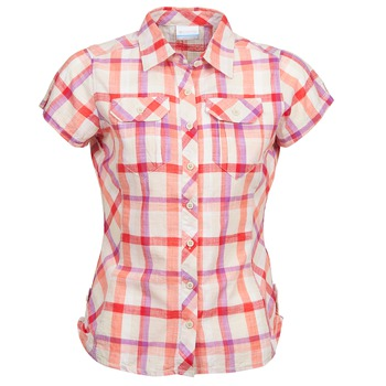 Clothing Women short-sleeved shirts Columbia CAMP HENRY Multicoloured