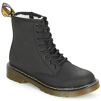 70s Shoes, Platforms, Boots, Heels | 1970s Shoes Dr Martens  SERENA JUNIOR  girlss Childrens Mid Boots in Black £98.50 AT vintagedancer.com