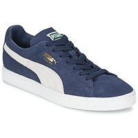 Shoes Low top trainers Puma SUEDE CLASSIC Peacoat-White