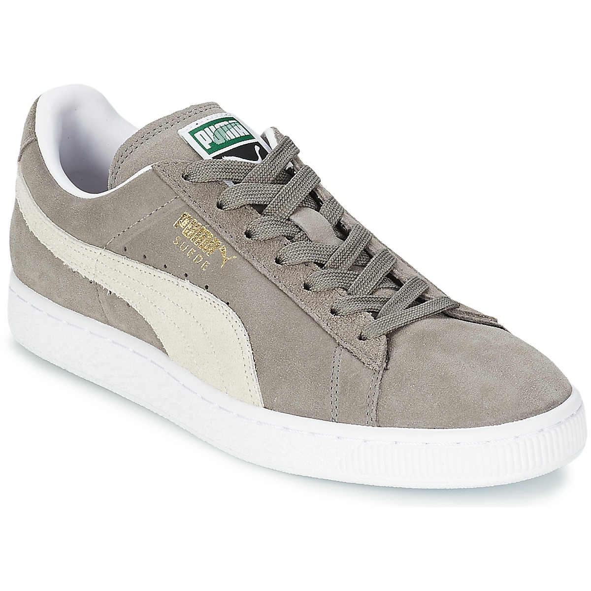 a63b44b1412 Puma SUEDE CLASSIC Grey - Free delivery | Spartoo UK ! - Shoes Low ...