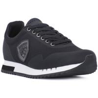 Shoes Men Low top trainers Blauer BLK DETROIT Nero