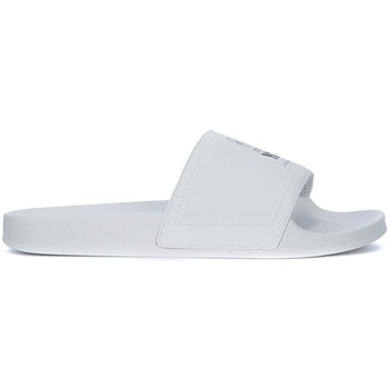 Shoes Men Tap-dancing Y-3 Adilette white rubber and synthetic leather slipper White