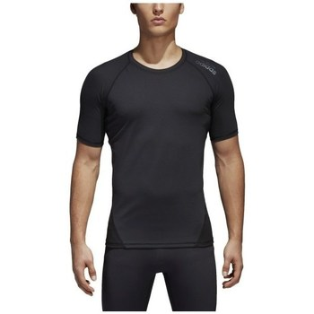 Clothing Men short-sleeved t-shirts adidas Originals Alphaskin Black
