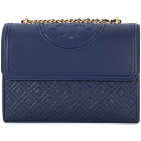 Bags Women Shoulder bags Tory Burch Fleming blue leather shoulder bag Blue