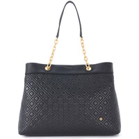 Bags Women Small shoulder bags Tory Burch Flaming Center-Zip black leather shoulder bag Black