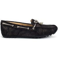 Shoes Women Boat shoes Geox Leelyan Black